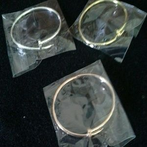 Nail braclets in gold, silver and rose gold color